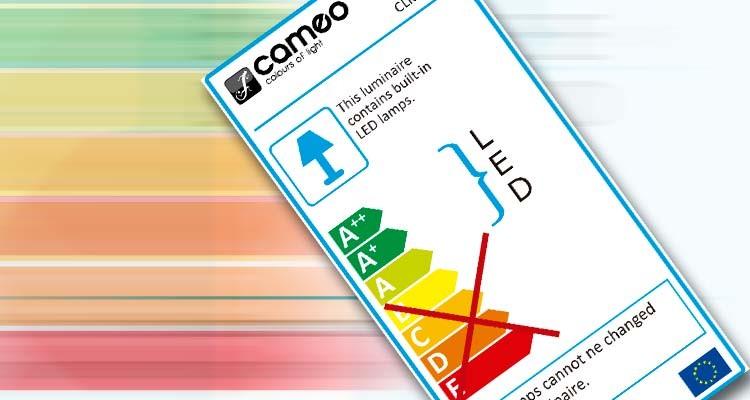 Etiquetado energético UE para lámparas y luminarias