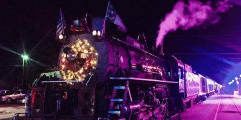 El mítico tren Polar Express de Carolina del Norte (EUA) se ilumina con washers Cameo ZENIT W600