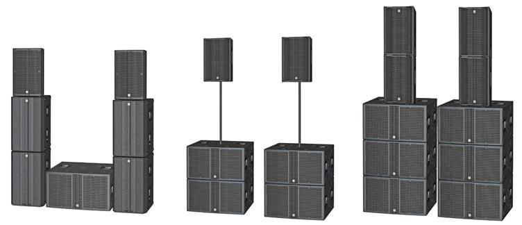 Diversas configuraciones de HK Audio L5 LTS A y L SUB 4000 A