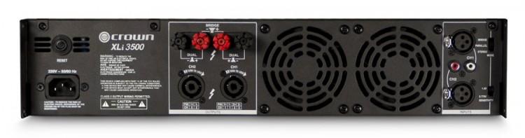 Crown Audio XLi 3500, panel posterior